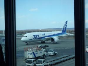 今日搭乗する 大きな機体の787