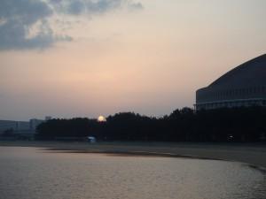 きれいな日の出に感動
