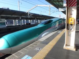 東北新幹線で東京に戻る
