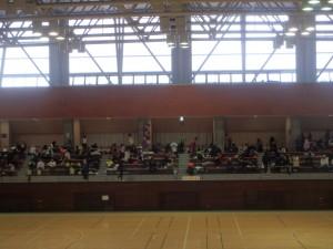 体育館も結構混んでいた