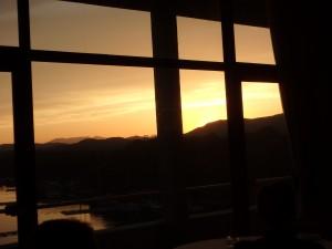 素晴らしい夕焼けに感動