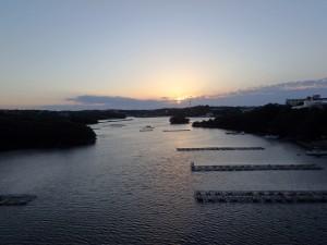 賢島に朝日が昇る