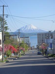 洞爺湖と、きれいな蝦夷富士