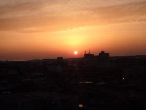 きれいな松阪の夜明け