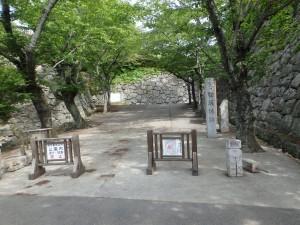 大きな城跡