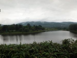 きれいな三日月湖