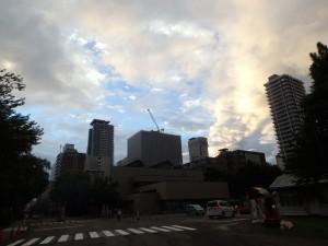 雨も上がり晴れた札幌