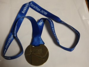 形が変わった完走メダル