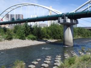 大きな水管橋