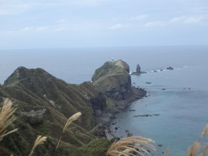 秋の神威岬