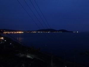 郷愁さそう小樽港の夜景