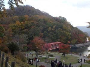 千歳川と鉄橋