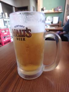 マラソン後のビールがうまい
