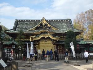 上野東照宮は 金色に光っていた