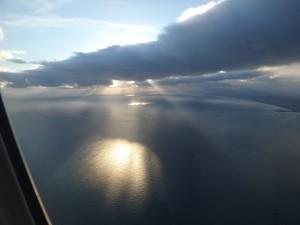 夕日がきれいな苫小牧沖