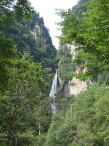 きれいな流星の滝