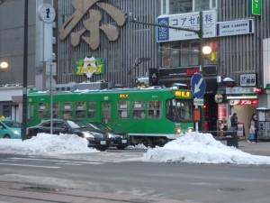 まだ雪が少ない札幌