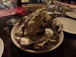 有難く食べたサロマの牡蠣