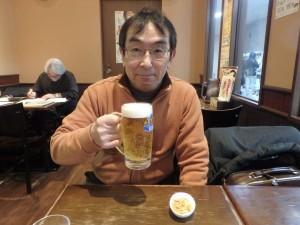 おいしい昼間の生ビール
