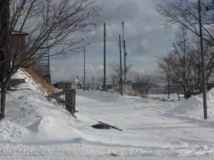 除雪後のきれいな道