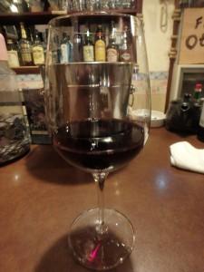 先客は2人 おいしい赤ワイン