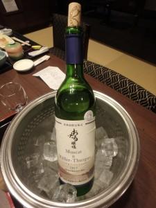 これは北海道産のワイン の中で特にうまい