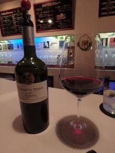 久々のフェルマータ おいしいワインににっこり