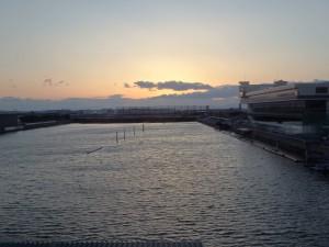 名古屋のきれいな夕日