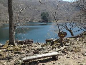 きれいな湖に感動