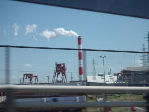 新潟のいつもの煙突を眺める