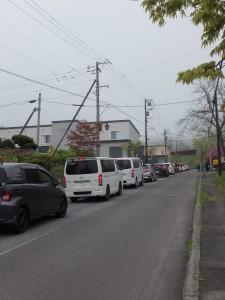 各地から沢山の車が集まる