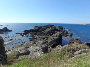 荒々しい岩の岬