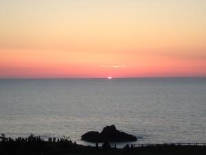 美しい佐渡の夕焼け