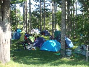 テントが沢山