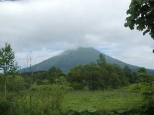 きれいに見えた羊蹄山