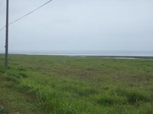 左手にはオホーツク海