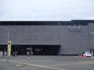 人の少ない熊本駅