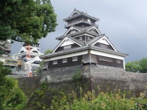 宇土櫓と工事中の大天守