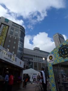 すっかり晴れた札幌駅前