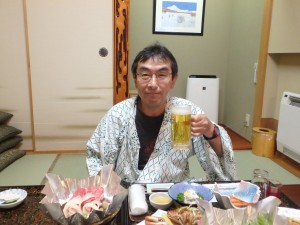おいしい食事に ビールが進む