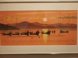 きれいなサロマ湖の夕焼け