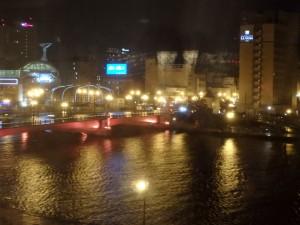 宿から釧路川と幣舞橋