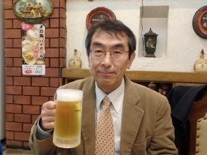 早速ビールで乾杯