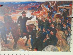 クラーク博士の当時の油絵