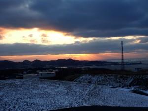 噴火湾の夕焼け