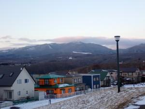 初冬の室蘭岳