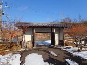 資料館入り口の門