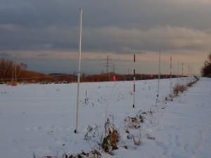 雪景色を見ながら走る