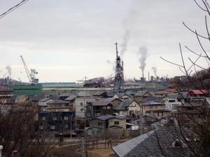 新日鉄の工場群