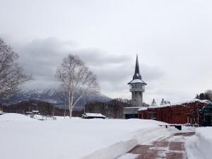 真冬の有島記念館